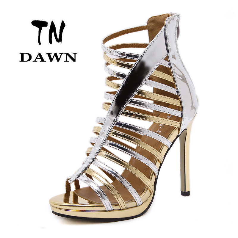 ФОТО New Style Women Roman Fashion High Heels Ladies Sexy Pointed Toe Thin Heels Sandal Stilettos Personality Party Wedding Shoes