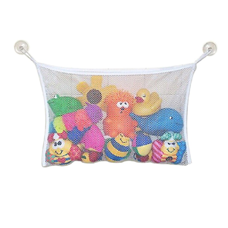 Creative Folding Baby Bath Toy Storage Bag Bathroom Hanging Mesh Bag ...