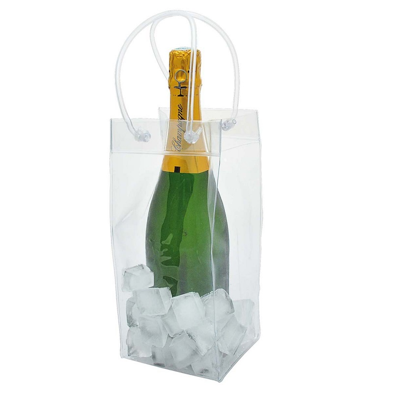 100pcs PVC Ice Bag Wine cooler chiller Gift bags Wine Tool wa3667