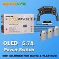 Новое поступление 5 в 1 контроллер батареи 5.7A большой ток смартфон планшет зарядное устройство с oled-дисплеем для MAVIC & PLATINUM Drone