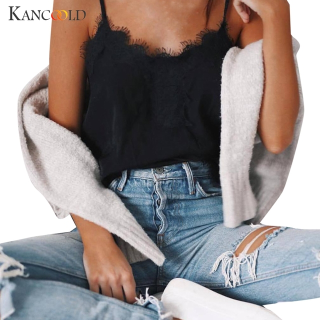 07af0669be9 2017 Black Lace Chiffon Bralette Top Sexy V Neck Camisole Tank Top Fitness  Feminino Vest Women Short Blusas Bustier Cami 418