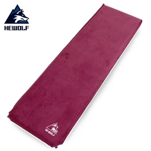 6.5cm thick suede mat automatic inflatable mattress outdoor camping tent moisture mat nap mats цена