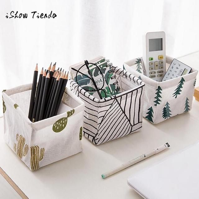 Storage Bin Closet Toy Box Container Desktop Cosmetic Snack Food Underwear Sundries Organizer Fabric Basket Dropshipping