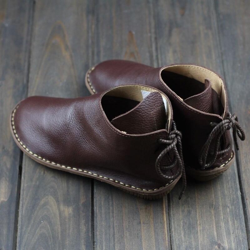 No sin Cuero Zapatos Invierno Otoño Pelo Punta Redonda Conducción De Lining E Of Casuales Con Botas velvet Inside Genuino Zapatos Mujer xqvaCwC1