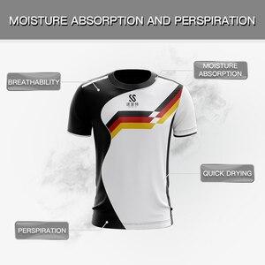 Image 3 - カスタム男性/女性スポーツドライ通気性バドミントンシャツ、卓球チームゲームトレーニングエクササイズフィットネススポーツ Tシャツ