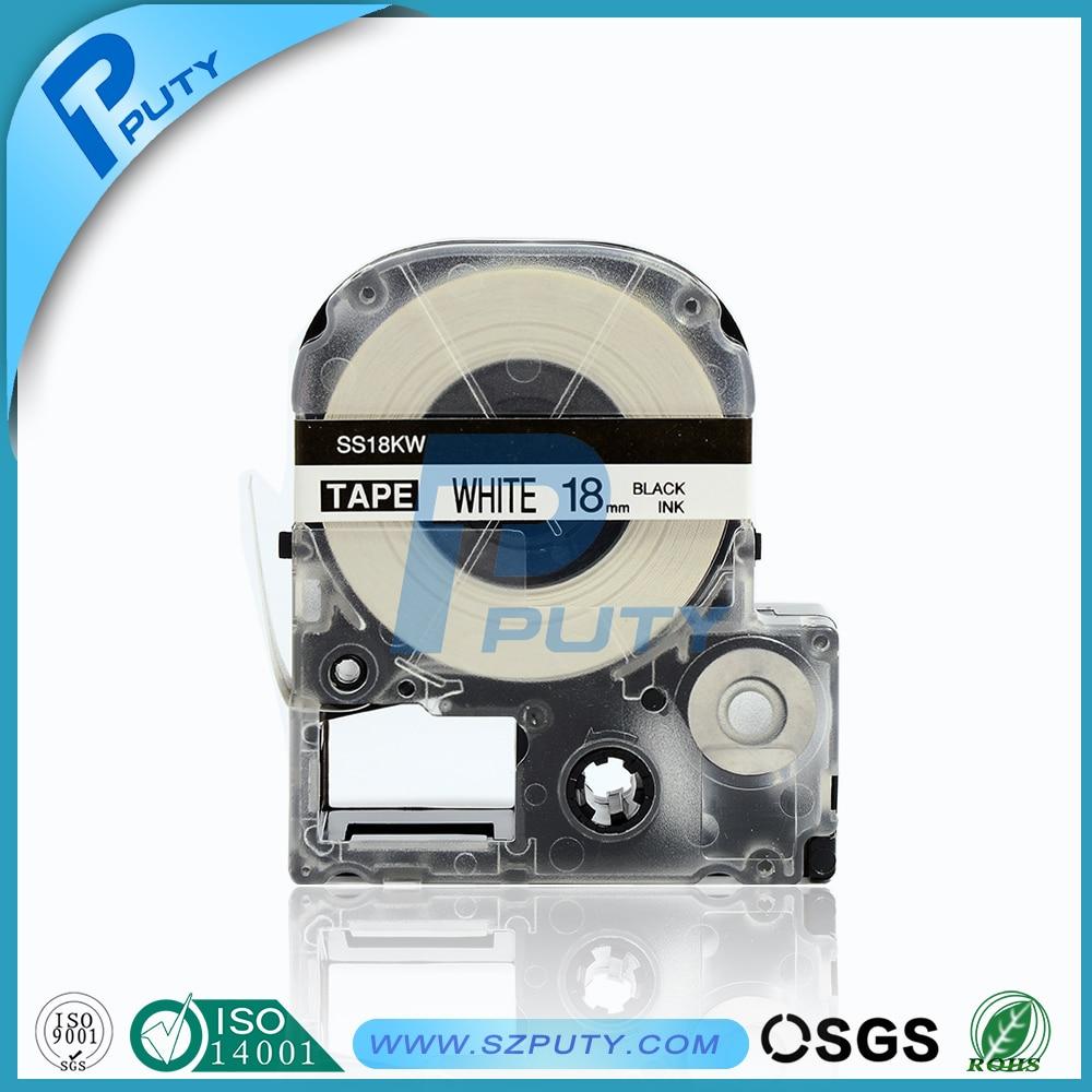 10 Stks Puty Ss18kw Lc-5wbn 18mm Zwart Op Wit Compatibel Label Tape Printer Tape Voor Lw-300 Lw-400 Lw-600p Sr230c Label Printer