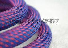 Нейлоновая сетка 16 мм с фиолетовым и красным экраном оплетка