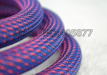 16MM Nylon Mesh Purple+Red Screen Braided Sleeving For DIY HIFI audio video cable wire