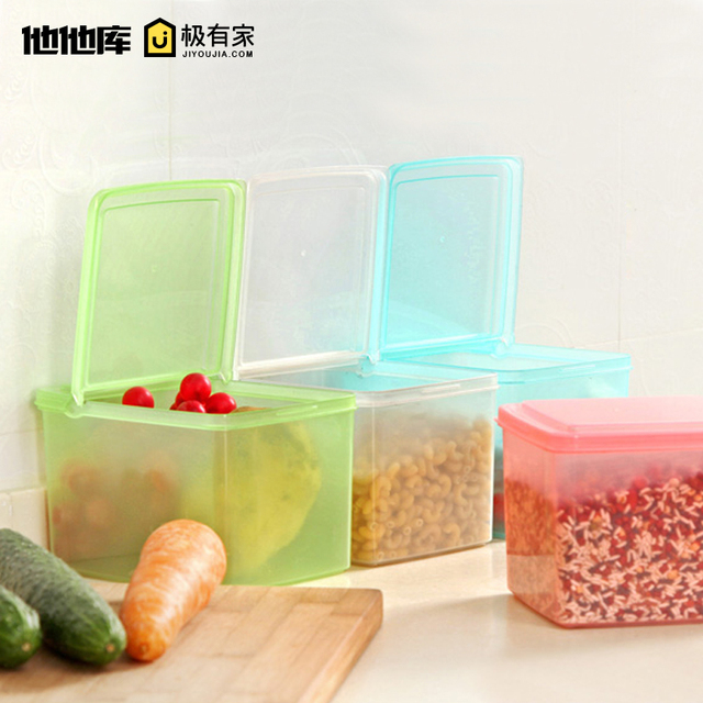 Clamshell food storage box rice pet food storage bin sealed crisper grains sealed box  sc 1 st  AliExpress.com & Clamshell food storage box rice pet food storage bin sealed crisper ...