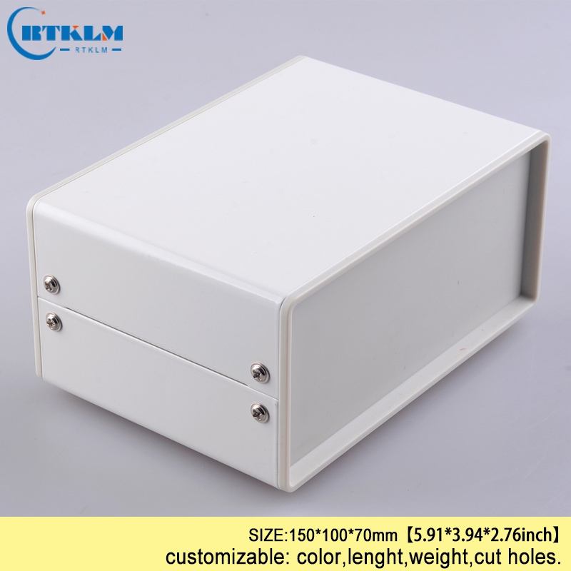 DIY iron enclosure diy instrument case electrical project housing enclosure pcb switch metal iron steel box 150*100*70mm IP54 image