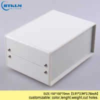 DIY iron enclosure diy instrument case electrical project housing enclosure pcb switch metal iron steel box 150*100*70mm IP54