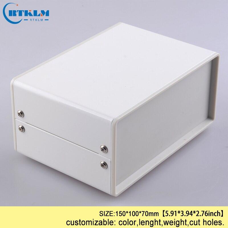 Diy 철 인클로저 diy 악기 케이스 전기 프로젝트 주택 인클로저 pcb 스위치 금속 철 철강 상자 150*100*70mm ip54-에서와이어 정션 박스부터 홈 개조 의