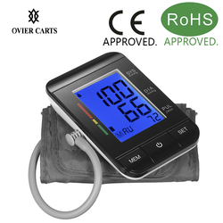 Digital Upper Arm Tonometer Blood Pressure Monitor Sphygmomanometer LCD Screen Automatic Heart Beat Meter Machine Measuring Tool