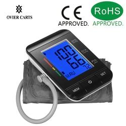 Digital Upper Arm Tonometer Blood Pressure Monitor Sphygmomanometer LCD Screen Automatic Heart Beat Meter Machine Measuring Tool