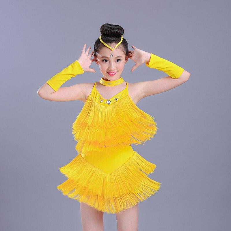 2ff1b786ecddb Haute qualité Latin Samba danse frange enfant fantaisie Salsa Latin danse  Costume enfants danse robe Latino fille Tango vêtements dans Latine de  Nouveauté ...