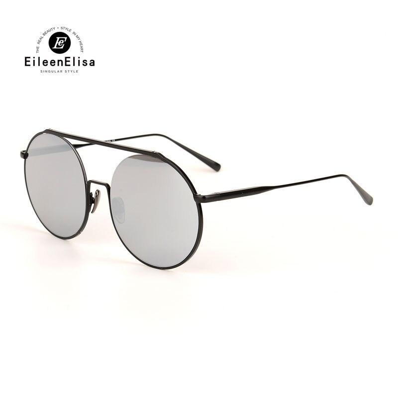 2017 EE Brand Sunglasses Women Brand Designer Oculos De Sol Feminino Round Style Mirrored Lens Metal Frame Sun Glasses
