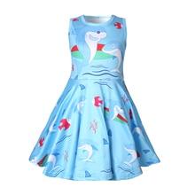Dress girl Summer Cute girl clothes sleeveless princess dress shark costume for girls vestidos 1249 цена 2017