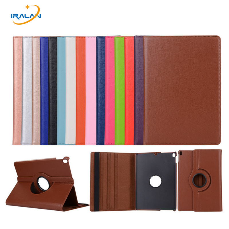 360 Rotating Stand Protector Case For Apple iPad Pro 10.5 Tablet Litchi PU Leather Cover For iPad Pro 10.5 inch+screen film+pen
