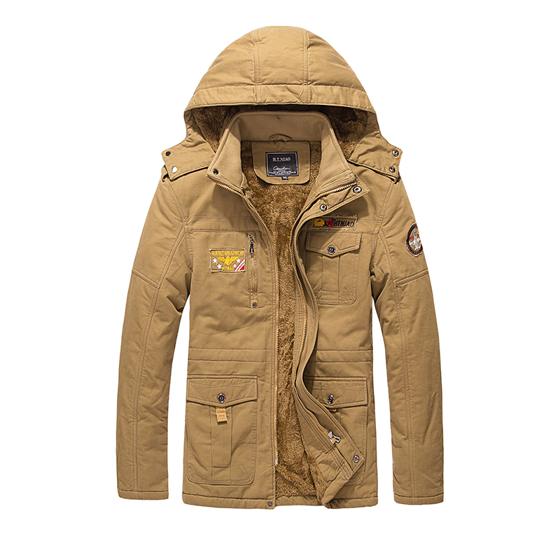 ФОТО 2016 Large Size Black Khaki Army Thicken Parka Men Brand-clothing Winter Jacket Men Fur Fleece Warm Mens Parka Coat napapijri