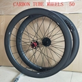 DECA Bici Della Strada del Carbonio Ruote 700C 50 millimetri Wheelset Della Graffatrice UD Finitura Opaca con Decal
