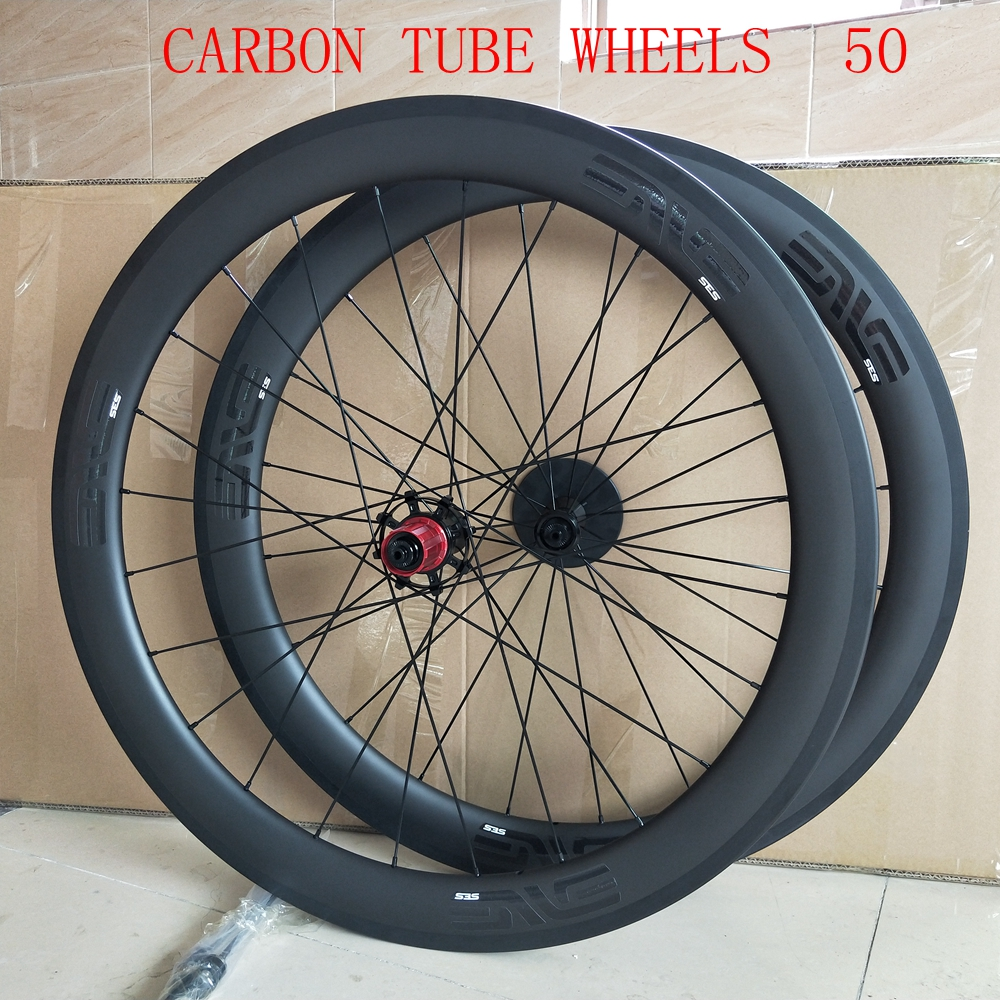 DECA Bike Carbon Road <font><b>Wheels</b></font> <font><b>700C</b></font> 50mm Clincher Wheelset UD Matte Finish with Decal image