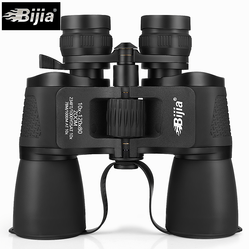 BIJIA 10-120X80 high magnification long range zoom hunting telescope wide angle professional binoculars high definition