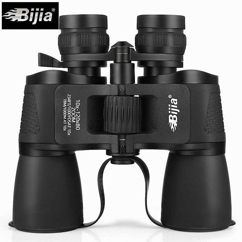 Bijia 10-120X80 alta ampliación largo alcance zoom caza telescopio gran angular binoculares profesionales de alta definición