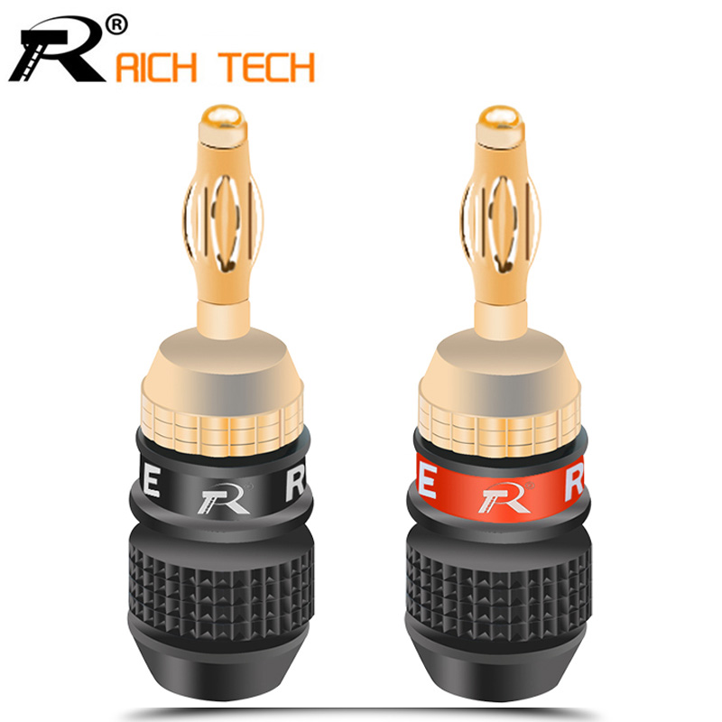 2pcs BIG SALE R Banana Plug Connector Speaker Corrosion-Resistant Banana Connector For Audio Video Amplifier Speaker Cable Jack