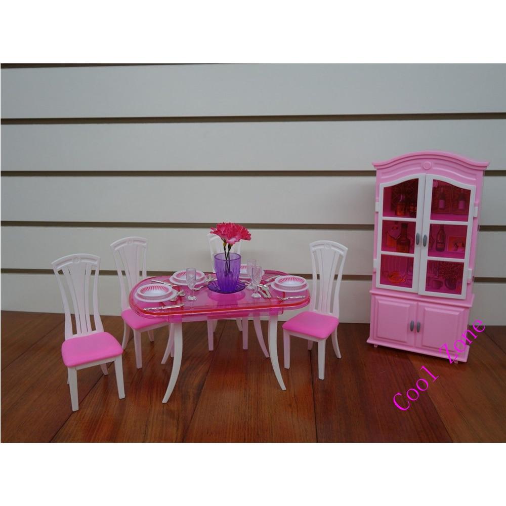 Miniatyr möbler Matsal-C för Barbie Doll House Pretend leksaker - Dockor och tillbehör - Foto 2