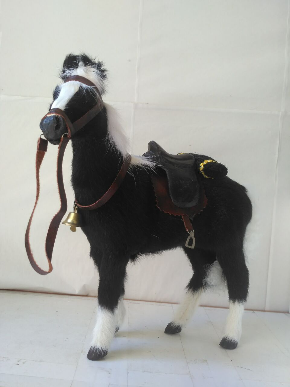 black simulation horse model polyethylene&fur high quality horse doll gift about 28x26cm 1402 simulation male deer 18x25cm model polyethylene