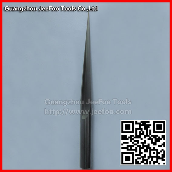 12*100H*R0.3*8degree*150L Taper two flutecaibide end mills,cnc router bits, LED diffuser/ ligh guide plate,Acrylic