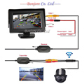 "Wireless Carro Rear view Kit 4.3 ""Monitor de TELA TFT LCD veículo + 170 Amplo grau mini câmera Reversa de backup Sensor de Estacionamento"