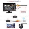 "Wireless Carro Rear view Kit 4.3 ""Monitor de TELA TFT LCD veículo + 170 Amplo grau mini câmera Reversa de backup Sensor de Estacionamento"
