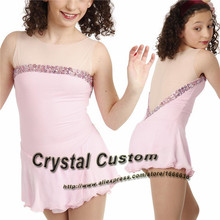 Girls Figure Skating Dresses With Spandex New Brand Vogue Figure Skating Competition Dress Customized  DR3221