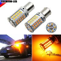 2 No Hyper Flash 21W High Power Amber BAU15S 7507 PY21W 1156PY LED Bulbs For