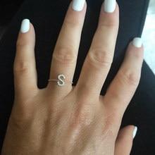 Alphebet charme nette micro pave cz buchstaben top qualität link kette meanning neueste design gold minimal kette ring