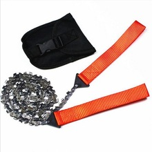 Outdoor pocket tool, wild survival saw, manganese steel strong stainless chain saw blade folding saw, survival equipment wire