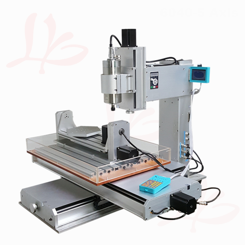 1500W spindle metal wood router Column type 6040 5axis CNC cutting Machine with rotation axis engrave