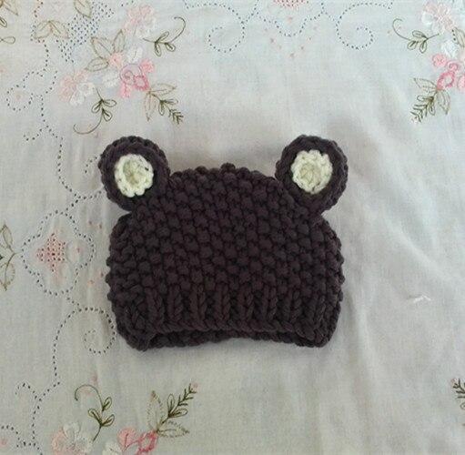Crochet Teddy Bear Hat Newborn Bear Cap Baby Teddy Bear Newborn