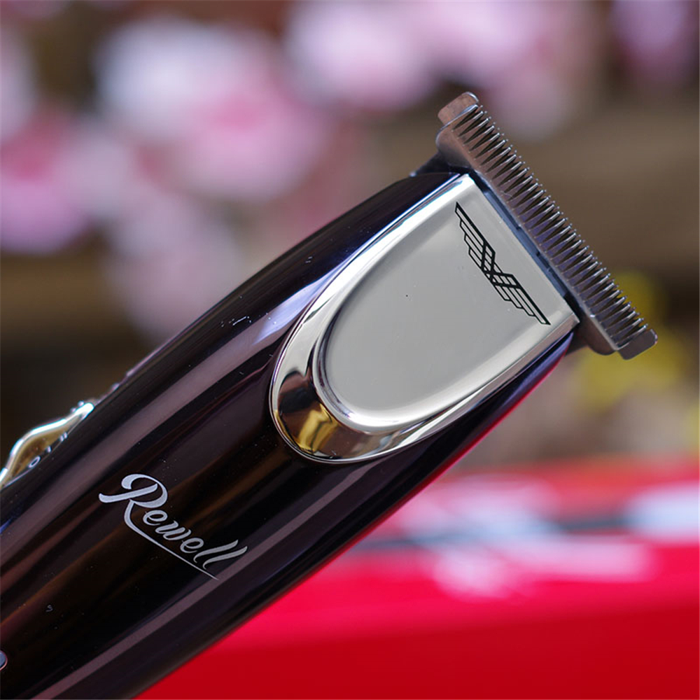 Image 3 - Electric Precision 1mm Hair Clipper Steel Cutter Professional Rechargeable Hair Trimmer for Men Salon Oil Head Shaving Machine-in Hair Trimmers from Home Appliances