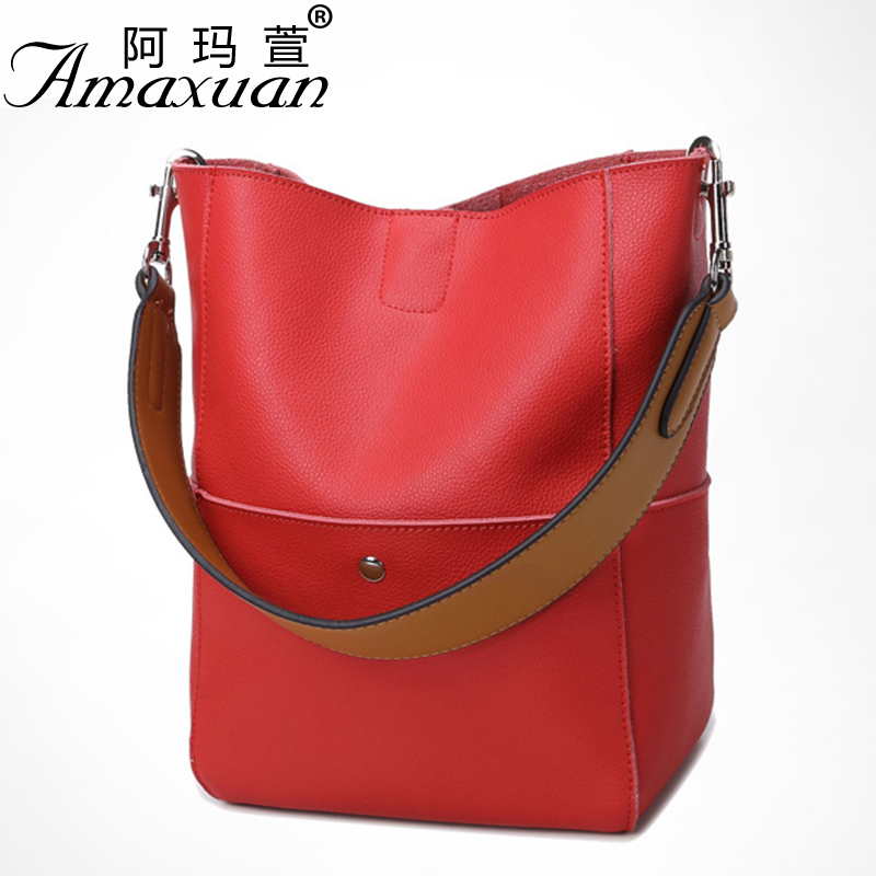 ФОТО European fashion style women leather handbag personalized stitching female luxury shoulder bag with high quality hot  BH1360
