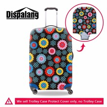 Dispalang Floral Prints Suitcase Protective Covers For Women Fashion Waterproof Travel Luggage Dust Cover For 18-30 Inch Case