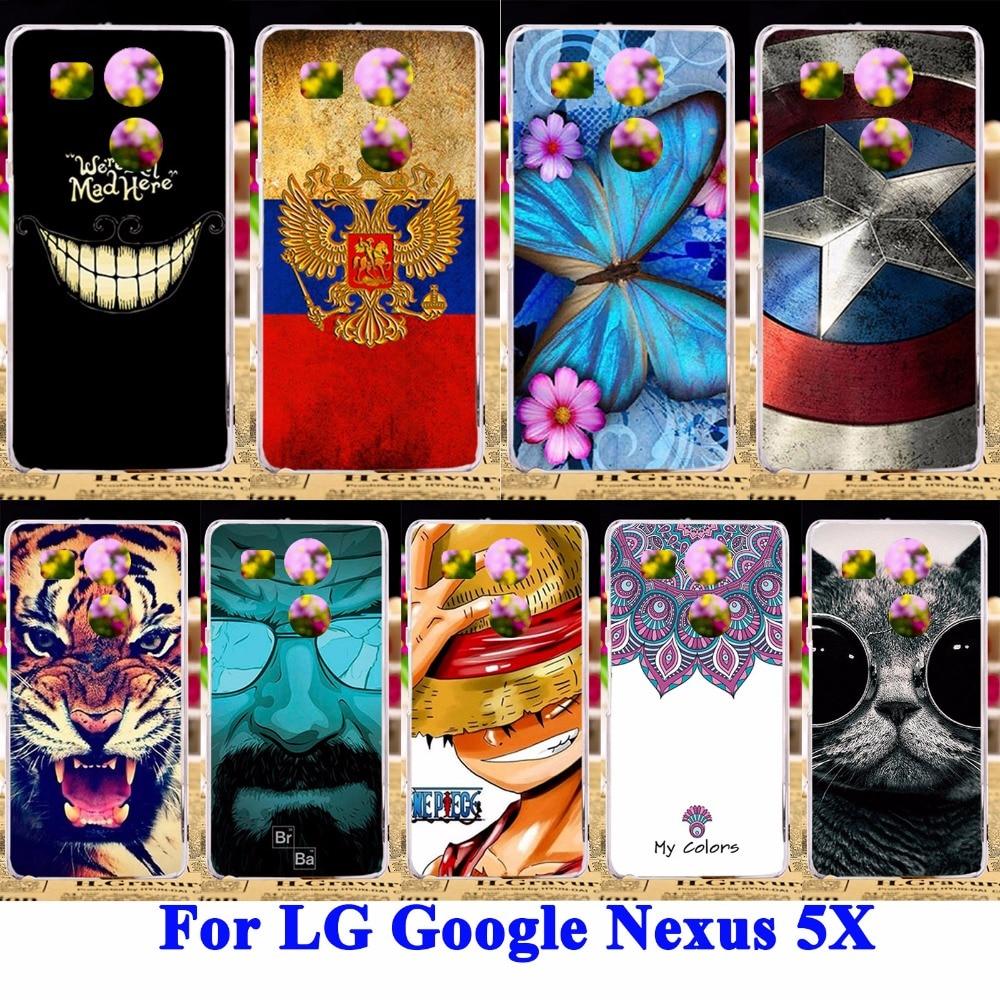 AKABEILA Panda Tiger <font><b>Cat</b></font> Painted Shell Covers For LG Google <font><b>Nexus</b></font> <font><b>5X</b></font> <font><b>Phone</b></font> <font><b>Cases</b></font> H791 H790 Nexus5X Bags Skin Hard Plastic Hood