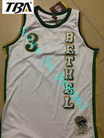TBA Throwback Basketball Jerseys 3 Allen Iverson Bethel High School All Stitched White Green Drop Ship
