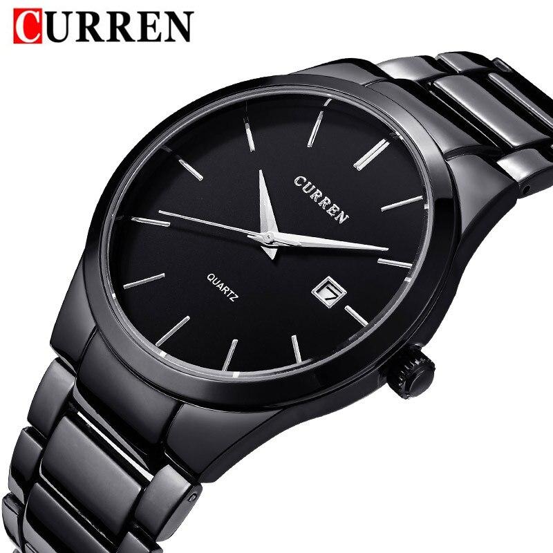 CURREN Men Watch Sport Military Clock Stainless Steel Business Top Brand Luxury Date Clocks Mens Wrist Quartz Watches Gift 8106