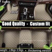 High Strength Pedal Custom Fit Car Floor Mats Leather For Toyota Corolla Reiz RAV4 Camry 3D