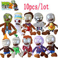 10pcs/lot 30cm Plants vs Zombies Plush Toys Games PVZ Zombies Soft Plush Stuffed Toys Dolls Baby Toy For Kids Gift