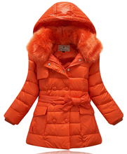 2017 Fashion Children jacket For Girls Winter White Duck Down Coat Child Clothing Kids Hooded Coats Thicken Down Jackets