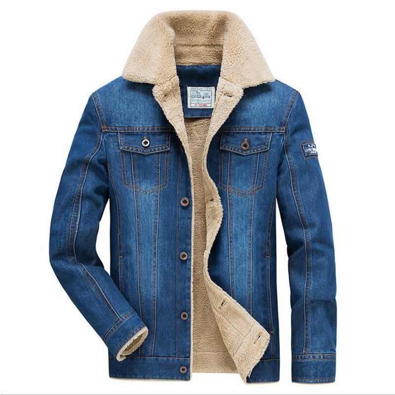 Брендовая зимняя куртка Для мужчин джинсы пальто для мальчиков плотная теплая Для мужчин Куртки и пальто шерстяная подкладка из флиса в стиле милитари карманами верх jacchaqueta hombre