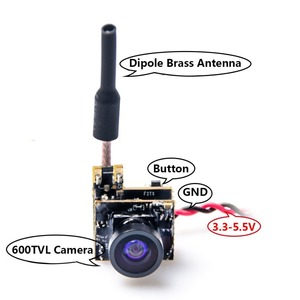 Image 5 - AKK BS2 5.8G 48CH 25mW VTX 600TVL 1/3 Cmos AIO FPV Camera with Dipole Brass Antenna Combo For FPV Quadcopter drone